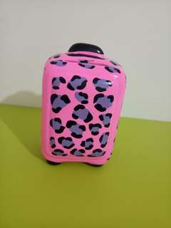 Pink Luggage Coin Bank