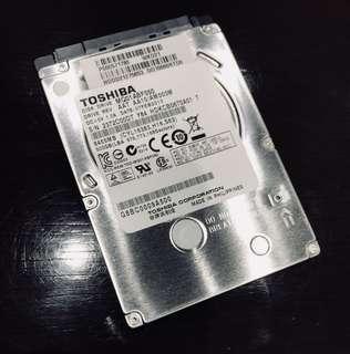 "Toshiba 500GB 2.5"" SATA Hard Disk 5400rpm"