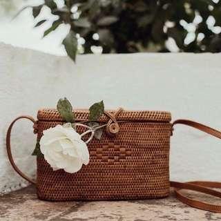 Kayla Wicker Basket Rattan Bag