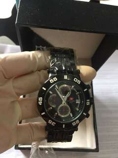 Jam Tangan Pria Original Branded Asli  SWISS ARMY SWISS ARMY HC  0935 MB diameter 44mm