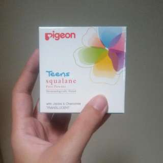 pigeon teens face powder squalane (translucent)