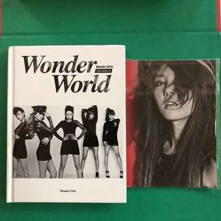 WONDER GIRLS 2ND ALBUM with GROUP MEMBER POSTCARDS
