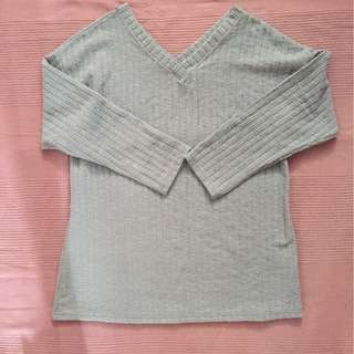 Baby Blue Loosen Knit Top