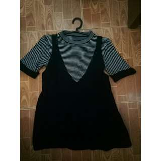 Korean 2in1 Knitted Top