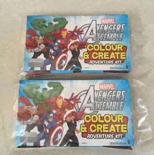 Marvel avengers assemble color and create adventure kit