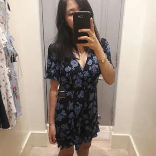 Forever 21 floral vline romper dress