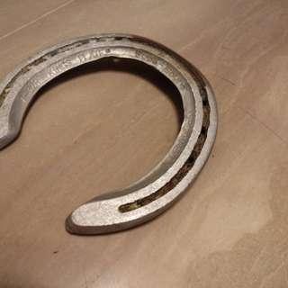 Authentic alluminium horse shoe