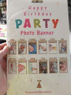 #monthly baby banner#birthday deco