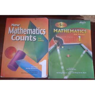 Mathematics textbooks for secondary-$3 each