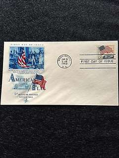 US 1963 5c 50-Star American Flag FDC Stamp