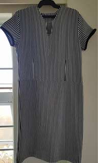 Semi-fit Striped Dress