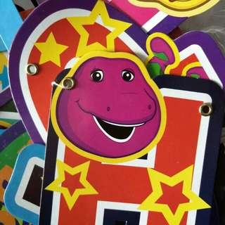 Barney Happy Birthday banner