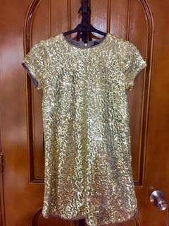 Forever 21 Gold-sequined Dress