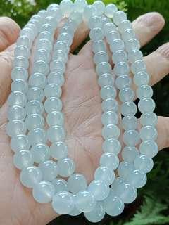 🚚 108顆玻冰螢光翡翠珠鍊