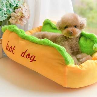 BN Super Cute Hot Dog Colourful Pets Dog Pets Plush Bed for Poodle Chihuahua Maltese Shih Tzu! FREE Home Delivery!