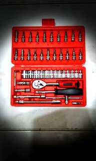 Sockets wrench set  46 pcs