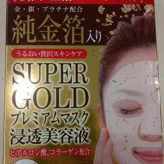 🚚 日本 Super Gold 純金箔面膜