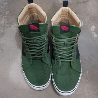 Authentic VANS SK8-HI PT (MILITARY TWILL) RIFLE GREEN