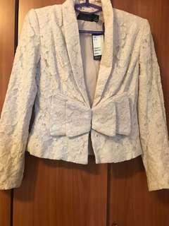 H&M蕾絲西裝外套
