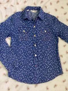 Star all over print long sleeves