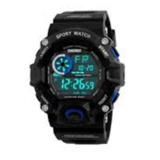 SKMEI DG1019 BLUE WITH RUBBER STRAP WATCH FOR MEN - COD FREE SHIPPING