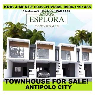 rent to own townhouse in antipolo city Esplora townhomes