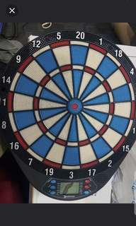 dart board damaged