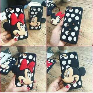3D cute mickey/minnie black case