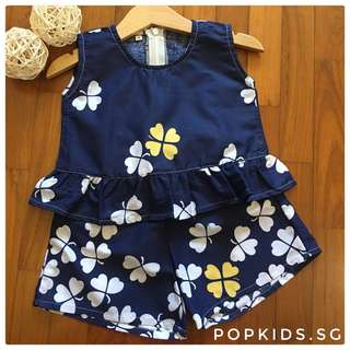 🍀Navy Peplum Sets for Mom and Girl 🍀
