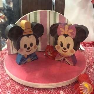 JPN Exclusive: Mickey & Minnie Kimono Set - Kidea Wooden Toy