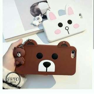 3D cute brown cony + gantungan case