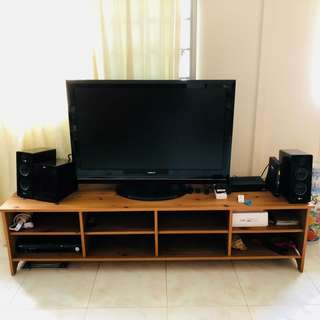 [Moving Out Sale] Pine Wood TV Console