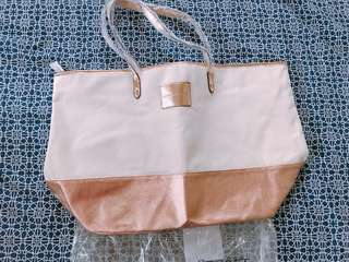 Brand new Victoria Secret zip canvas tote bag