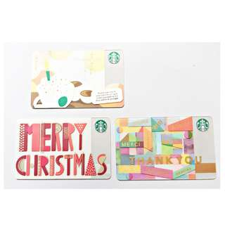 Starbucks cards for collectors.