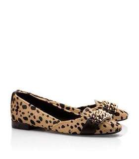 new never used Authentic Tory Burch Hana leopard flats - 6.5 - fits 6.5-7 best with box.  Orig price P15,950