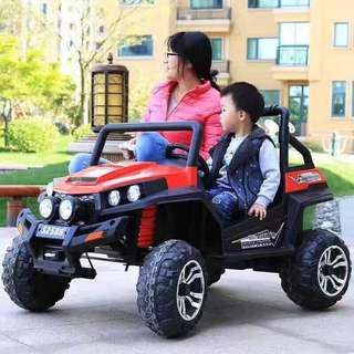 Red Big 2 Seater ATV Rechargeable Ride On Car Truck with Rubber Tires