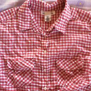 Red and White Checkered Polo