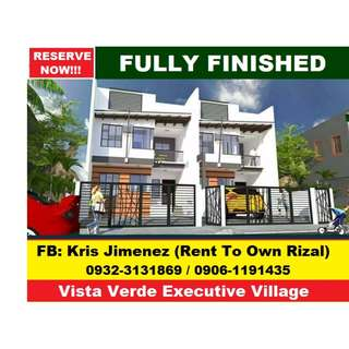 Vista verde duplex for sale at pre selling 10% Downpayment only