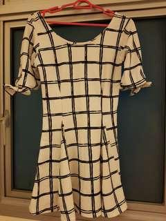White checker dress