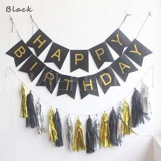 Happy Birthday Banner (BLACK)