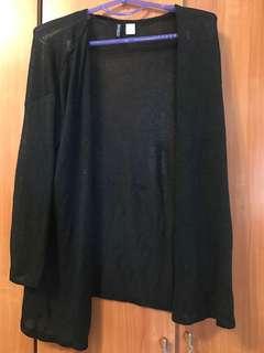 H&M黑色針織外套