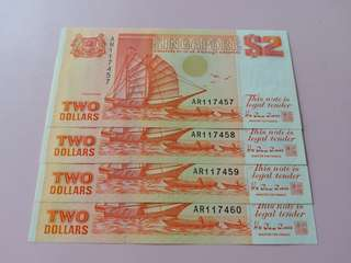 Singapore Ship Series $2 Note