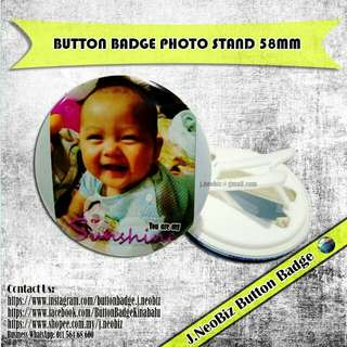 Button Badge Photo Stand