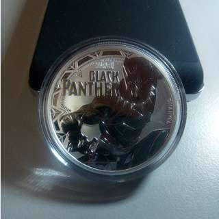 2018 Official Marvel Black Panther 1 Troy Ounce 9999 Fine Silver Coin