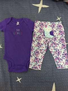 清display3-6m:1set紫色$65