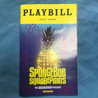 Spongebob Squarepants OBC Playbill
