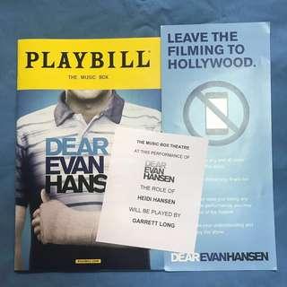 Dear Evan Hansen OBC Playbill