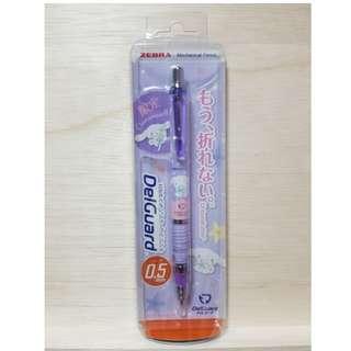 現貨 日本 ZEBRA 三麗鷗 SANRIO 大耳狗 不易斷芯自動鉛筆 紫色