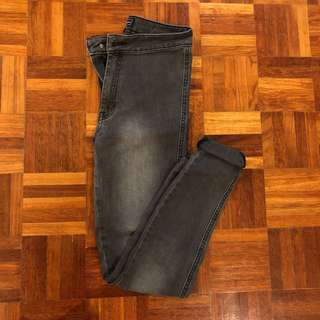Waredenim Grey Highwaisted Skinny Jeans