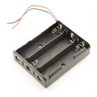 18650 Battery Holder - Wire - 3 Cell